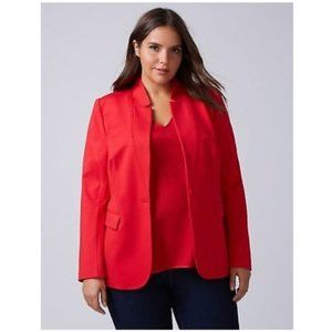 Nwt Lane Bryant red ponte knit blazer 28
